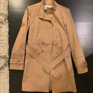 Burberry Belted Military Trench Coat Blush Gold 2
